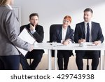 shot of recruiters talking with ... | Shutterstock . vector #429743938