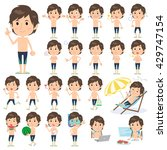 set of various poses of man... | Shutterstock .eps vector #429747154