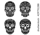 day of the dead sugar skull... | Shutterstock .eps vector #429751288