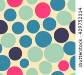 seamless dots pattern. vector... | Shutterstock .eps vector #429752314