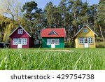 three multi colored small tiny... | Shutterstock . vector #429754738