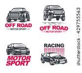 set of four sport cars logo ... | Shutterstock .eps vector #429755563