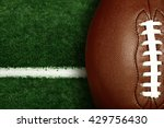 american football on football... | Shutterstock . vector #429756430