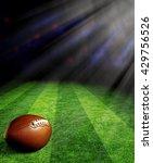 american football on green... | Shutterstock . vector #429756526