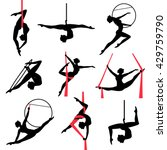 silhouettes of a gymnastic... | Shutterstock .eps vector #429759790