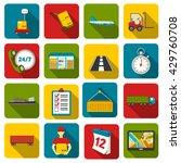 logistics set of vector icons....   Shutterstock .eps vector #429760708