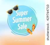 super summer sale label | Shutterstock .eps vector #429764710