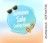 summer sale collection label | Shutterstock .eps vector #429764734