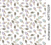 ice cream. stylized seamless... | Shutterstock .eps vector #429770239