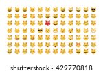 set of cat emoticon vector....