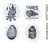 hand drawn vintage badges set... | Shutterstock .eps vector #429772063