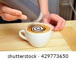 latte art  coffee class | Shutterstock . vector #429773650