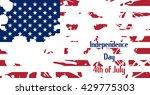 usa flag. blots white. caption...   Shutterstock .eps vector #429775303