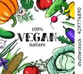 vegan food. set of vegetables....   Shutterstock .eps vector #429776890