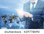 double exposure of businessman... | Shutterstock . vector #429778090