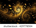 Abstract Fantasy Golden Swirly...