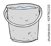 freehand drawn cartoon bucket...   Shutterstock .eps vector #429781210