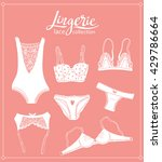 lace lingerie set. vector... | Shutterstock .eps vector #429786664