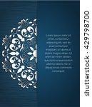 mandala decorative element.... | Shutterstock .eps vector #429798700