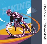 biking illustration  cyclist... | Shutterstock .eps vector #429799930