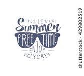 summer holidays vintage emblem... | Shutterstock .eps vector #429802519