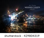 abstract composition. night... | Shutterstock .eps vector #429804319