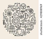 auto spare parts line vector...   Shutterstock .eps vector #429808969