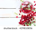 cranberry lemonade with... | Shutterstock . vector #429810856