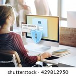 cyber security firewall privacy ... | Shutterstock . vector #429812950