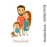 vector illustration. happy... | Shutterstock .eps vector #429817978
