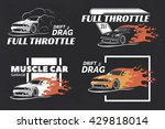 set of muscle logo  badges and... | Shutterstock .eps vector #429818014