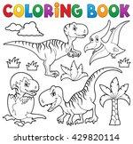 coloring book dinosaur theme 8  ... | Shutterstock .eps vector #429820114