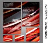 corporate identity template set....   Shutterstock .eps vector #429821893