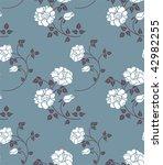 floral seamless   Shutterstock .eps vector #42982255