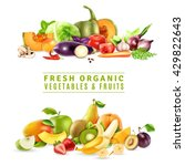 colorful organic design concept ... | Shutterstock .eps vector #429822643