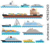 water transport flat decorative ...   Shutterstock .eps vector #429823420