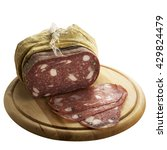 spinata salami isolated on a... | Shutterstock . vector #429824479