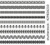 seamless vector tribal borders. ... | Shutterstock .eps vector #429826210