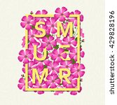 summer background with flowers. ... | Shutterstock .eps vector #429828196