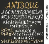 chalk script latin alphabet... | Shutterstock .eps vector #429837589