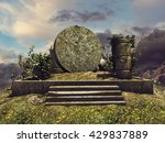 Fantasy Landscape With Ruins O...