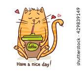cute cartoon hand drawn cat...   Shutterstock .eps vector #429839149