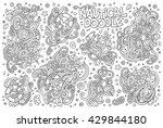 line art vector hand drawn... | Shutterstock .eps vector #429844180