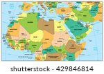 highly detailed political map... | Shutterstock .eps vector #429846814