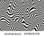 black and white abstract wavy... | Shutterstock .eps vector #429849190