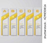 design clean number banners... | Shutterstock .eps vector #429850816