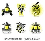 logo set about olive oil ... | Shutterstock . vector #429851134