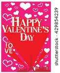 happy valentine day card vector ... | Shutterstock .eps vector #429854239
