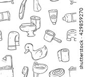 seamless pattern of bathroom... | Shutterstock .eps vector #429859270
