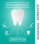 dental infographic elements. | Shutterstock .eps vector #429861070